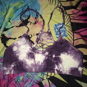 Free People XS tie dye bralette NWT